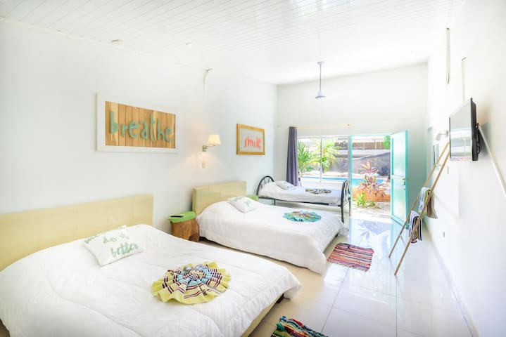 Poolside Cabina in Heart of Tamarindo - 5 Person