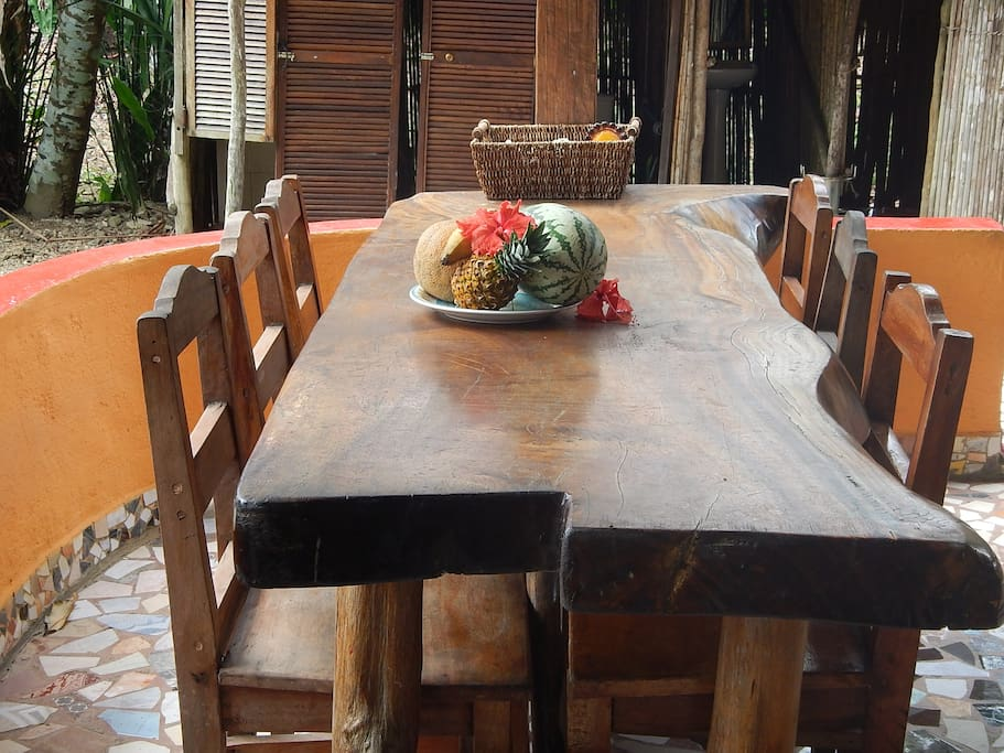 Our hand crafted picnic tables are large enough for family meals