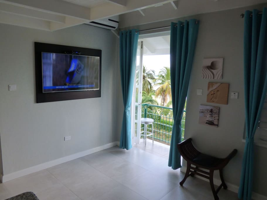 TV, Balcony Beach View