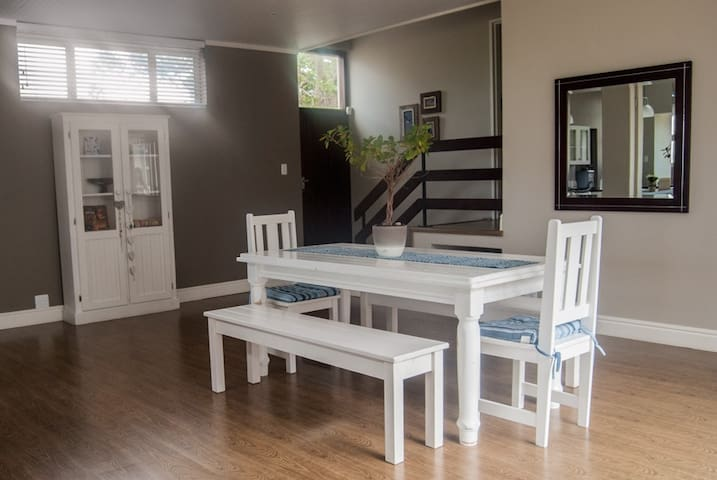 Dining Room Stairs That Take You Up To The Two Double Bedrooms