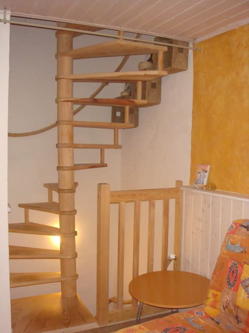 Circular stairway.