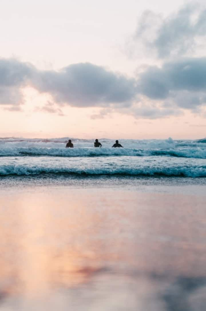 An ideal location for beginner surfers.