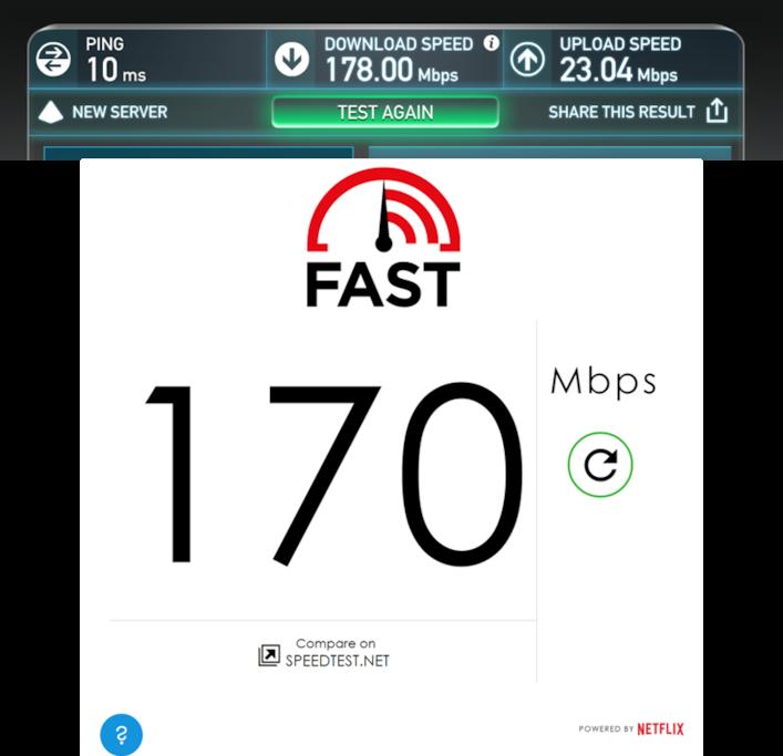 Lightning fast wifi speed