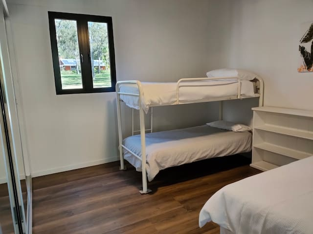 Bedroom 2-Bunk beds and single