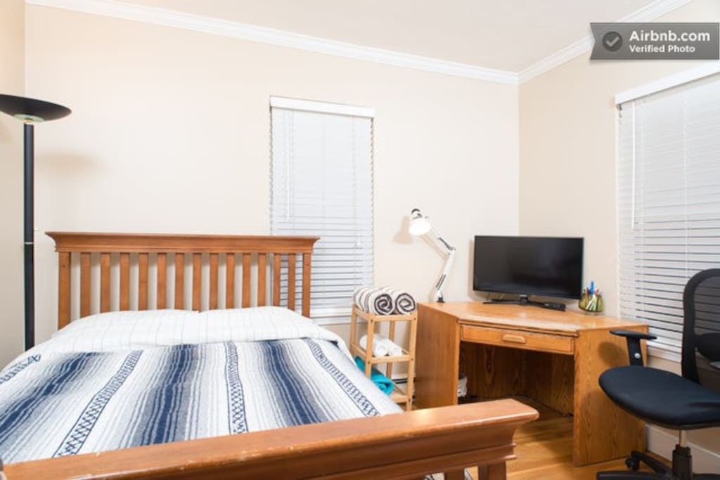 your full size bed comfortably sleeps two adults