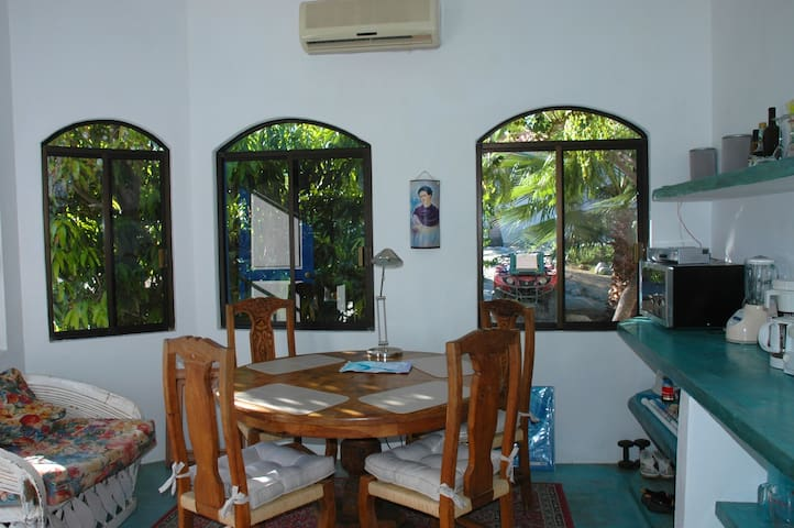 Big dinning room and kitchen