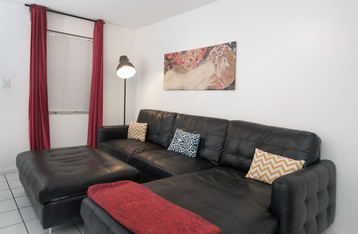 Large Couch in the Living Room - Sleeps 2  & Flat Screen TV With Cable of Course