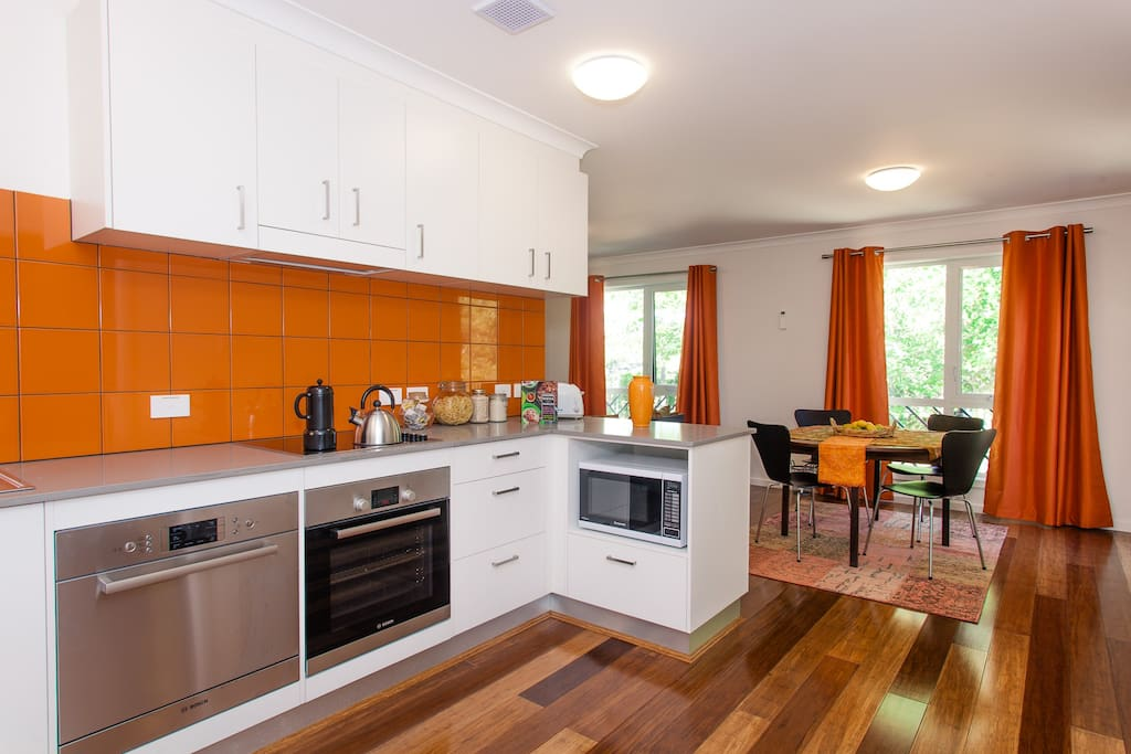 Beautiful Mexico City themed fully self contained kitchen and dining area.