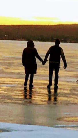 A beautiful walk on frozen Lake Wallenpaupack.