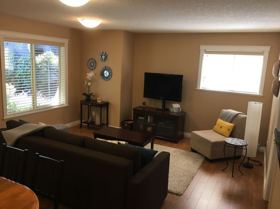 Living room; includes sofa bed