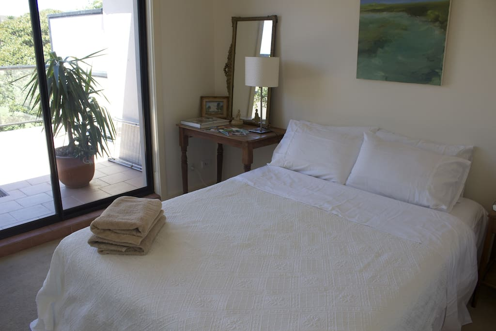 Guest Bedroom with very comfortable and Private Living space onto a large Private Balcony~