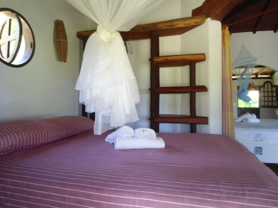 stanza da letto chalè loft