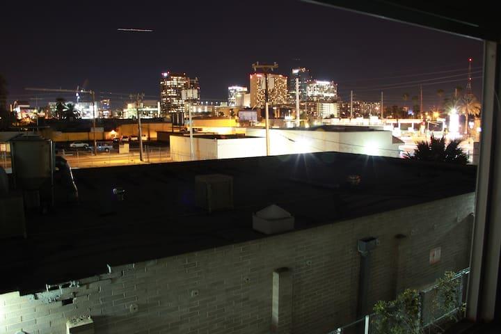 Skyline from third floor window