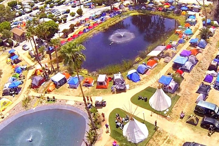 Stagecoach Glamping Pond Tent Site for 2, site E