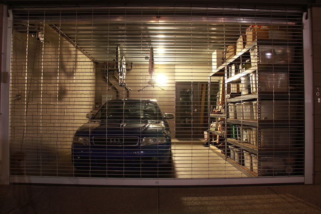 Entrance is through the garage
