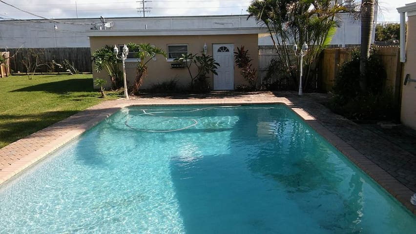 You have full access to the clean, saltwater pool!