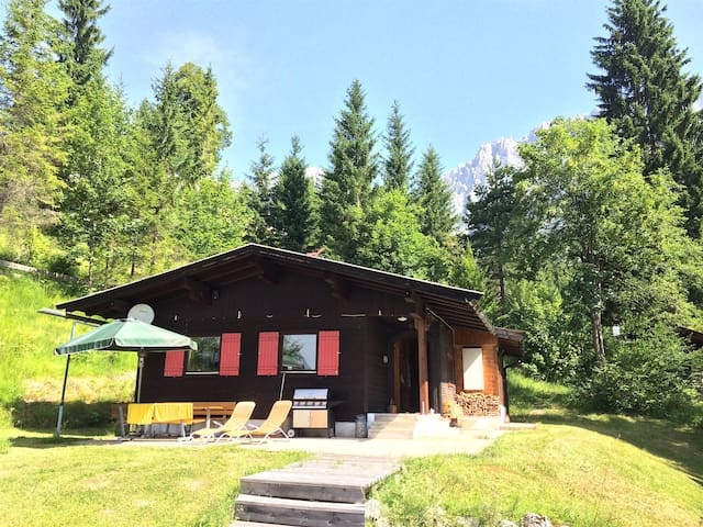 Tiroler Berghütte Alm Wilder Kaiser Panoramablick - Ellmau - Hytte (i sveitsisk stil)