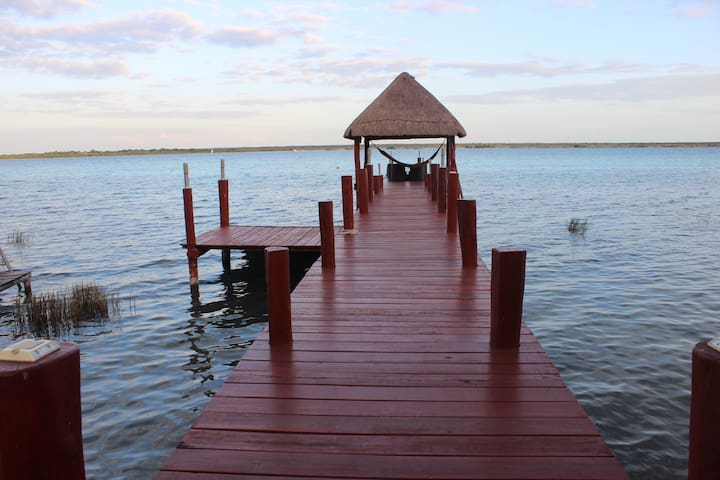 1bedroom apartment @ beautiful lagoon front house! - Bacalar - Casa