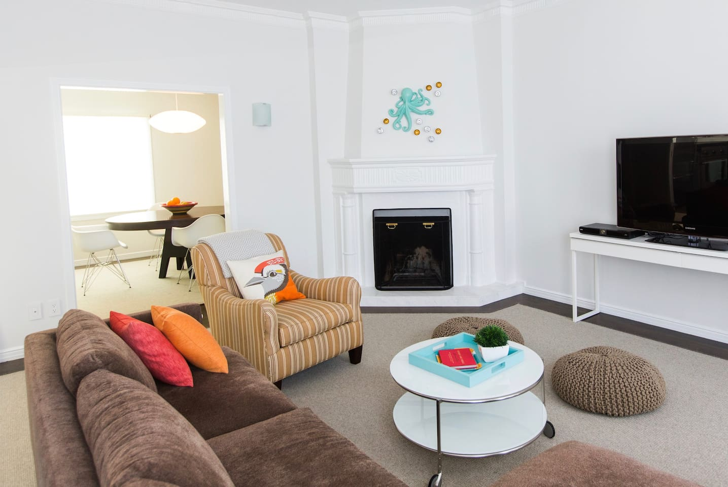 Our comfy, light-filled flat is 1700 sq. feet and newly redone.