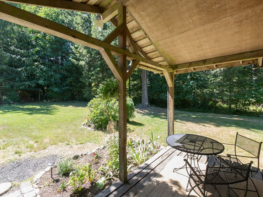 On over an acre property with plenty of room to enjoy the outdoors