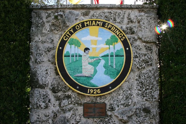 City of Miami Springs Plaque
