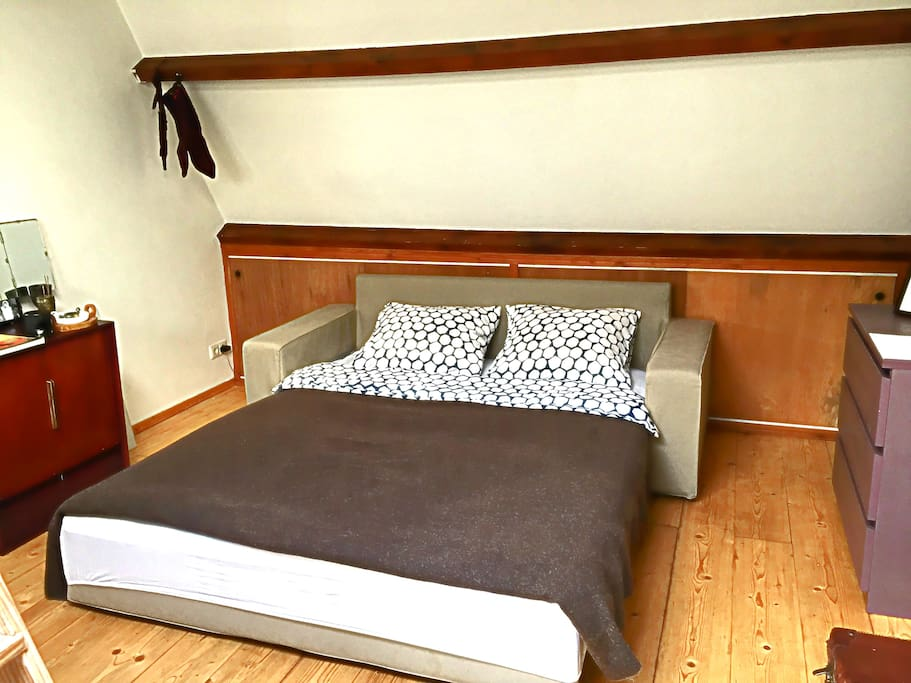 the artist's king size bed