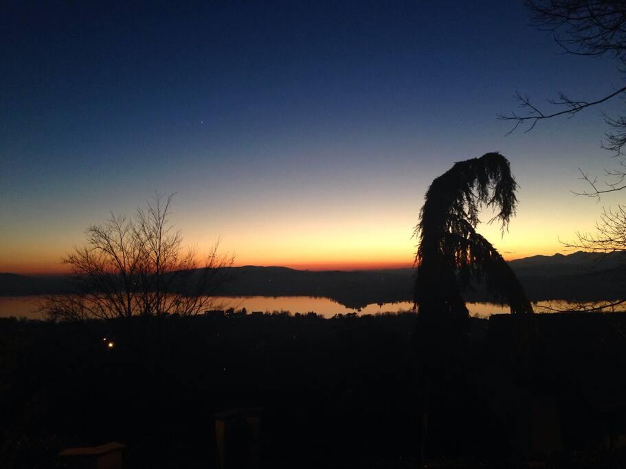 La vista senza paragoni che si può godere dalle terrazze vista lago