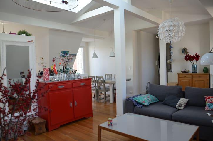 Paris Dachgeschoss Loft-Stil - Paris - Wohnung
