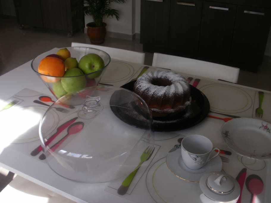 welcoming cake, always served at your arrival with coffee