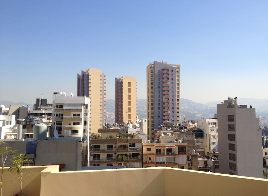 View on Beirut and mountains