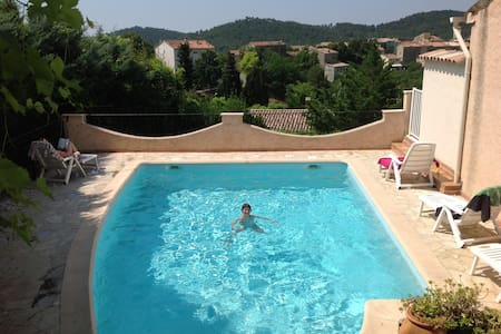 Provence:Flat w. pool & superb view - Claviers