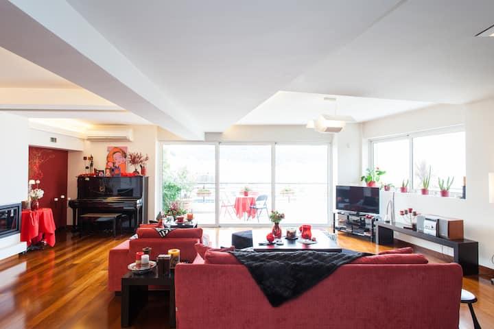 Wonderful flat with amazing view