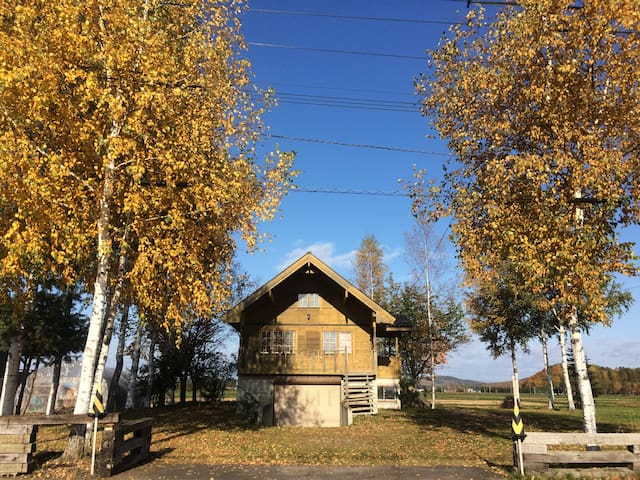 Swedish log with private SPA&SAUNA - 上川郡