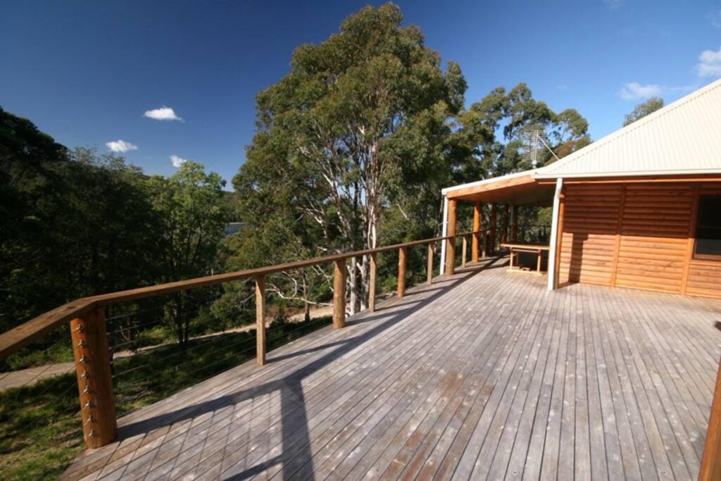 Expansive deck and verandah areas