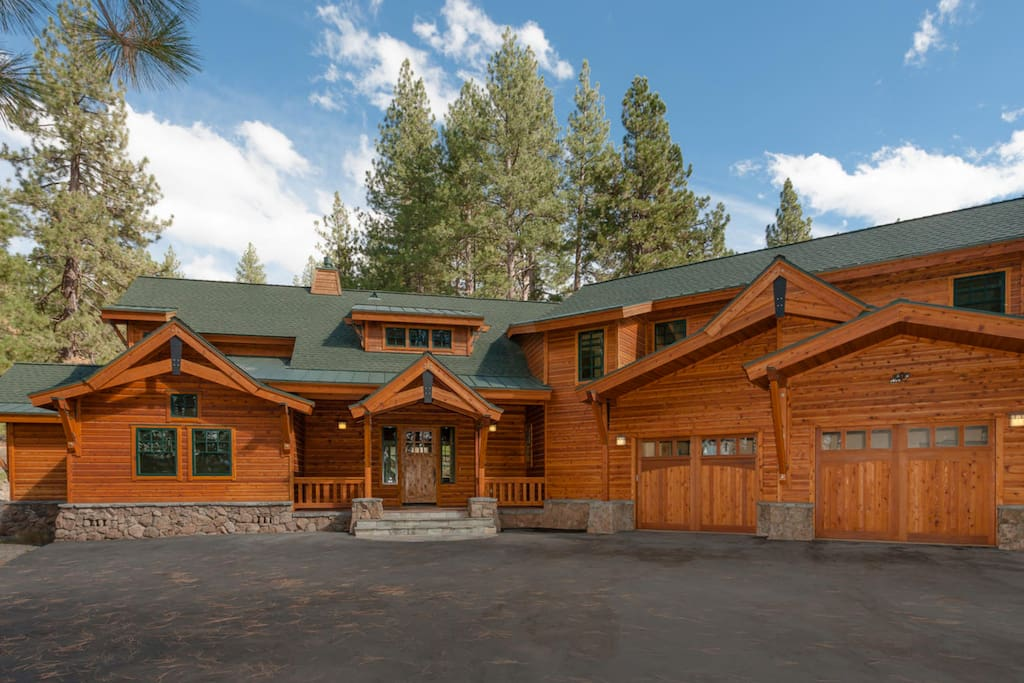 5bd private tahoe vacation retreat houses for rent in truckee california united states - Large summer houses energizing retreat ...
