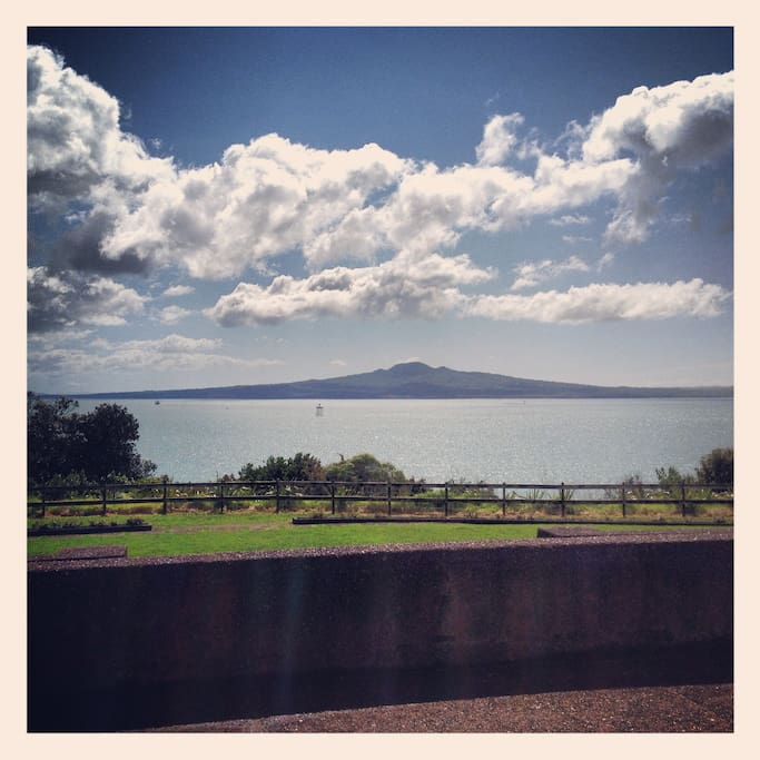 View from Bastion Point of Rangitoto Island. Bastion Pt is 4min walk from apartment