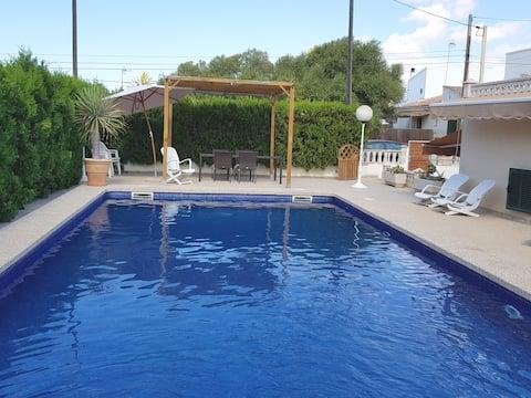 Casa Sa Rapita piscina uso exclusivo  200m del mar