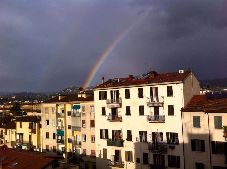 double rainbow! view from the room