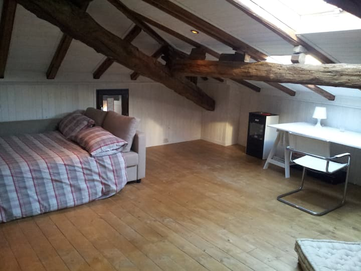 Private double room in the attic