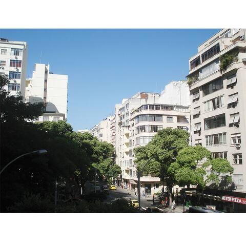 View from the apartment. Barata Ribeiro Street.