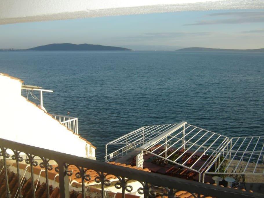 view on Kaštela bay,islands and Split