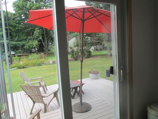 sliding door from kitchen.. nice view