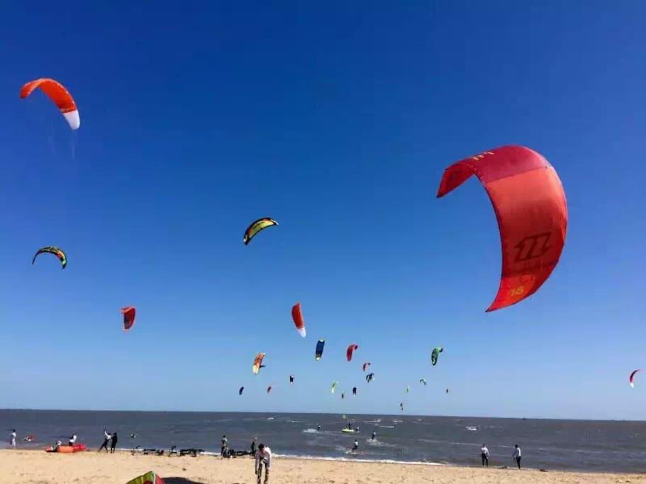 风筝帆船的天空