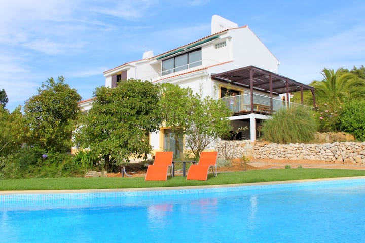 Villa with 7 bedrooms in Sesimbra, with wonderful sea view, private pool, furnished garden - 2 km from the beach