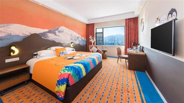 珠海长隆企鹅酒店(珠海海洋王国店)--【极地房】--珠海最好玩的,四星酒店,来企鹅做朋友吧