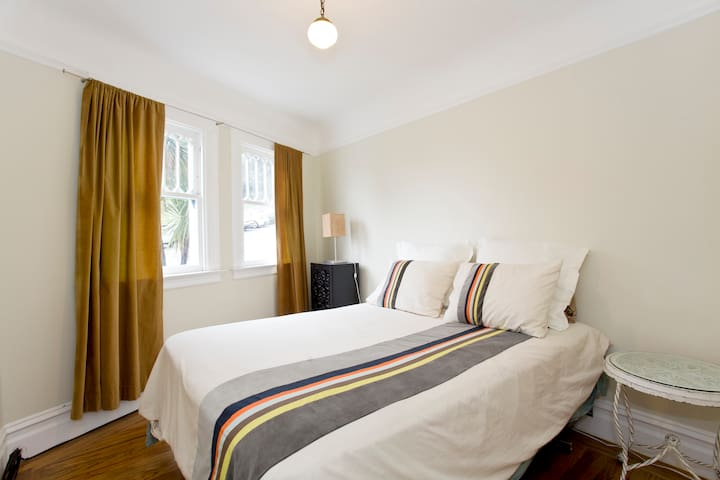 Bright and Sunny bedroom with Queen size bed