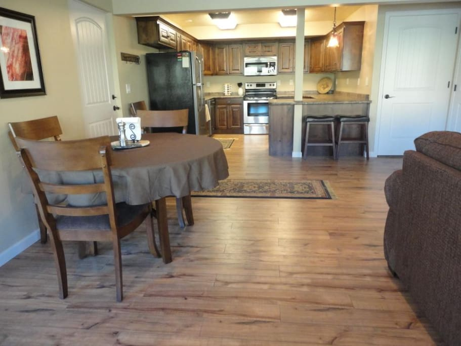 Fully Furnished Kitchen and Dining area.