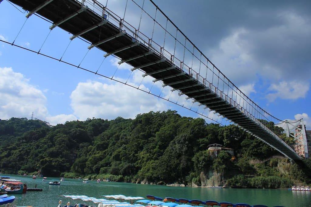 戶外日據時代鎢鋼球吊橋