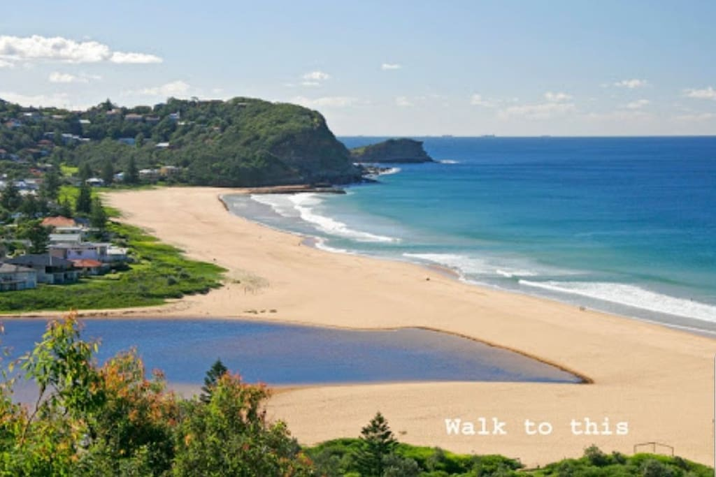 We are short walk or 2min drive from North Avoca Beach.