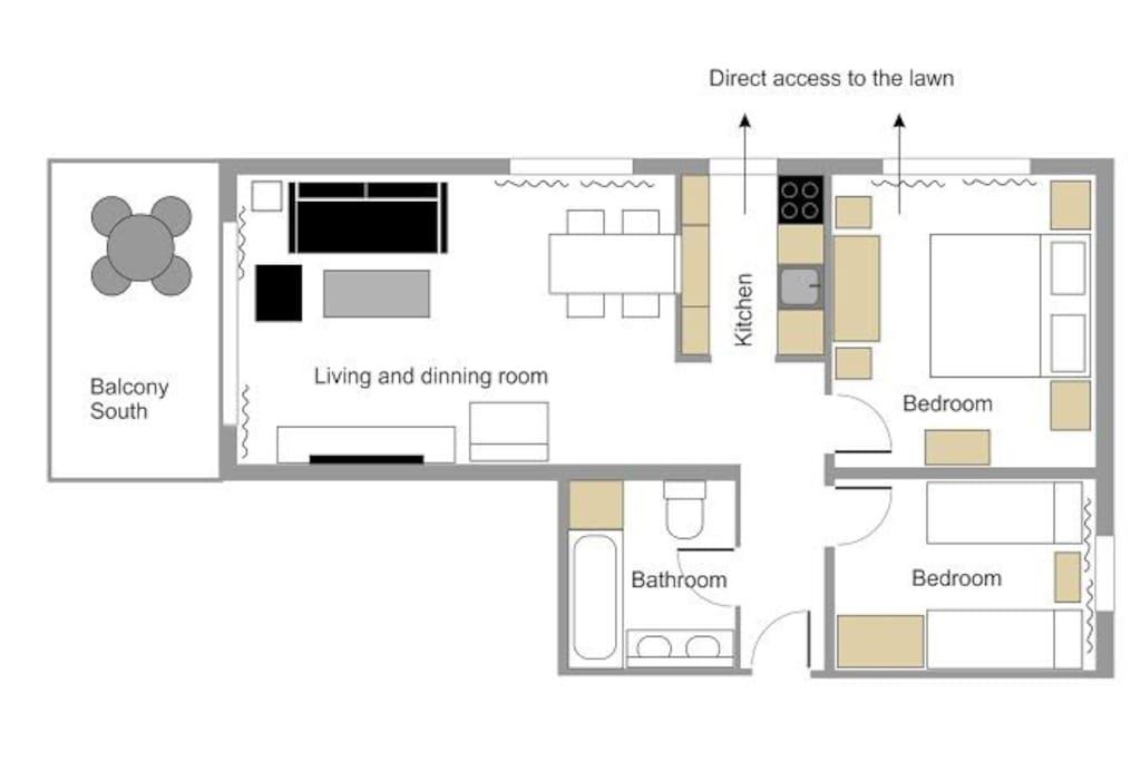 Beautiful 3 rooms flat ****
